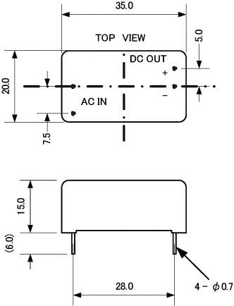 ac dc超小型スイッチング電源モジュール 5vdc 0 4a pav02 05 45076