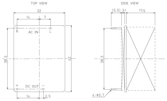 ac dc超小型オープンフレームスイッチング電源 5vdc 1a pav05 05 45081